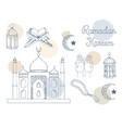 ramadan kareem concept hand drawing image vector image vector image