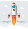rocket start up image vector image vector image