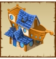 sailor hut in form an old wooden ship vector image