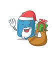 santa hot water bag cartoon character design vector image vector image