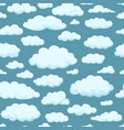 seamless pattern clouds of different shapes vector image