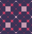 seamless repeating pattern of squares triangles vector image vector image