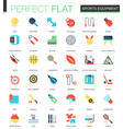 set of flat sport equipment icons vector image