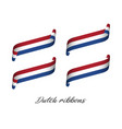 set of four modern colored dutch ribbons vector image