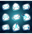 Set of icons messages envelop for email vector image vector image