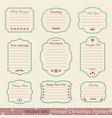 set of vintage christmas frames vector image