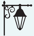 Silhouette lamp of wrought metal vector image