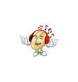 singing and listening music split bean cartoon vector image vector image