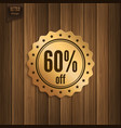 sixty percent offer vector image