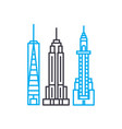 skyscrapers linear icon concept skyscrapers line vector image