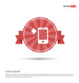 smartphone icon - red ribbon banner vector image