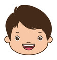 smiling boy face vector image