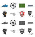 soccer and gear logo vector image vector image