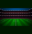 soccer stadium with green field vector image vector image