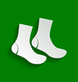 socks sign paper whitish icon with soft vector image vector image