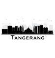 tangerang indonesia city skyline silhouette with vector image vector image