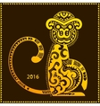 tribal monkey New year calendar vector image