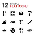 utensil icons vector image vector image