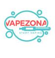 vapezone start vaping logo isolated on white vape vector image vector image