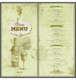 Vintage wine menu design Document template vector image