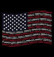 waving united states flag stylized composition of vector image vector image