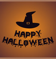 witch hat happy halloween vector image