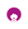 woman afro design flat vector image vector image