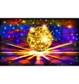 bright background with golden disco vector image