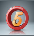 five 3d circle icon vector image