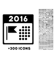 2016 Holiday Appointment Icon vector image vector image
