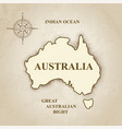 australia australian map retro background vector image