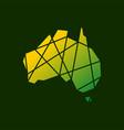 australia tech connection logo icon vector image vector image