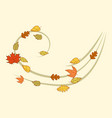 autumn leaf wind symbol design vector image vector image
