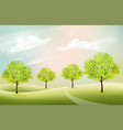 beautiful summer nature background with a green vector image