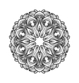 black and white round ornament vector image vector image