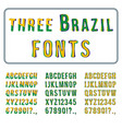 brazil style font set hand drawn alphabet vector image