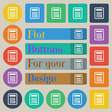 Calculator icon sign Set of twenty colored flat vector image vector image