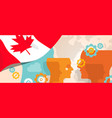 canada concept thinking growing innovation vector image vector image