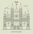 cathedral palma de mallorca spain vector image vector image