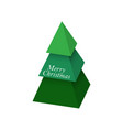 christmas tree made 3d green pyramids vector image vector image