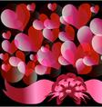 Circles and hearts 3 vector image vector image