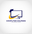 computer courses logo sign symbol icon vector image