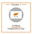Cyprus Independence Day vector image vector image