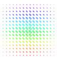 death skull tag icon halftone spectral grid vector image vector image