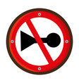 do not whistle traffic signal vector image vector image