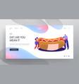 fastfood festival event menu website landing page vector image