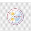 festive breakfast food idea for 8 march heart vector image vector image
