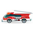 fire truck on white background vector image