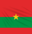 flag burkina faso swaying in the wind realistic vector image