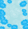 floral blue background vector image vector image